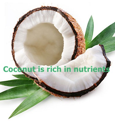 Coconut Oil is Rich in nutrients